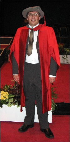 Me receiving my Doctorate from Middlesex University